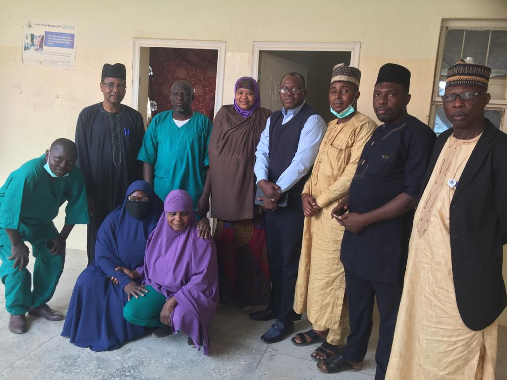 LASSA FEVER OUTBREAK: THE NANNM CHAIRMAN KANO STATE CHAPTER WITH HIS EXECUTIVE MEMBERS PAID A VISIT TO THE YAR GAYA ISOLATION CENTRE